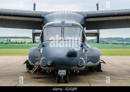 Bell Boeing V-22 Osprey is an American multi-mission, tiltrotor military aircraft with both vertical takeoff and - Stock Photo