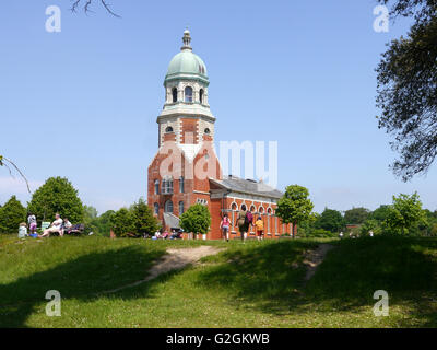 The Chapel at the Royal Victoria Country Park, Hampshire. The only remaining building of the Royal Victoria hospital. - Stock Photo