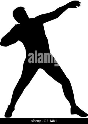 Shot put silhouette - Stock Photo
