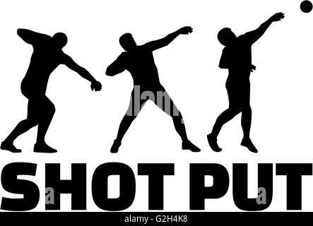 Shot put silhouettes - Stock Photo