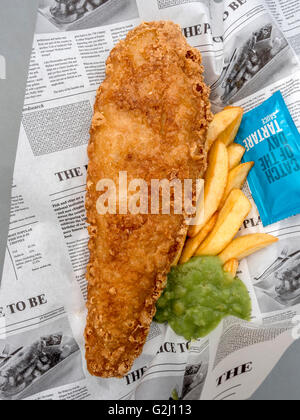 Fish and chips, typical British food, United Kingdom, Europe - Stock Photo