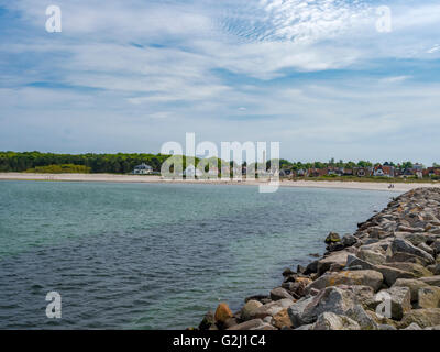 Hornbaek Beach, North Zealand, Denmark, Scandinavia, Europe - Stock Photo
