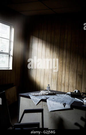 Messy Abandoned Office - Stock Photo