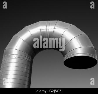 Curved Industrial Air Vent - Stock Photo