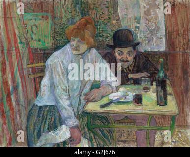 Henri de Toulouse-Lautrec - At the Café La Mie - Museum of Fine Arts, Boston