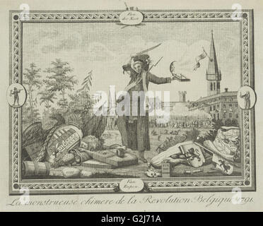 Allegory of the Brabant Revolution, 1791, Anonymous, 1790 - 1791 - Stock Photo