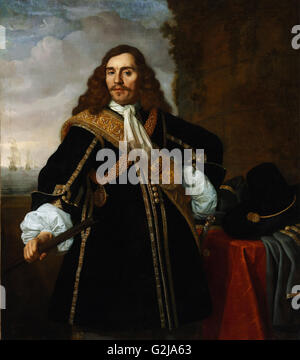 Bartholomeus van der Helst - Portrait of Captain Gideon de Wildt  - Museum of Fine Arts, Budapest - Stock Photo