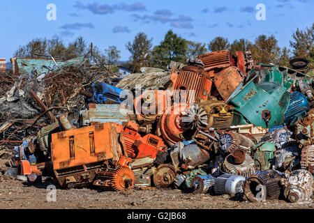 Scrap metal recycling, Thunder Bay, Ontario, Canada. - Stock Photo