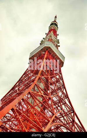 Close-up of Tokyo Tower - Japan - Stock Photo