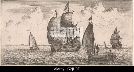 Receipt of the post at sea, Jacob Quack, Jan Houwens I, 1665 - Stock Photo