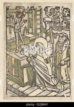 Mass of Saint Gregory, Anonymous, 1480 - 1500 - Stock Photo