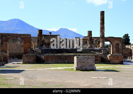 The Temple of Jupiter, Pompeii, Italy. - Stock Photo