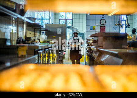 chefs prepare dishes for lunch at nice restaurant windhoek namibia stock photo 104535957 alamy. Black Bedroom Furniture Sets. Home Design Ideas
