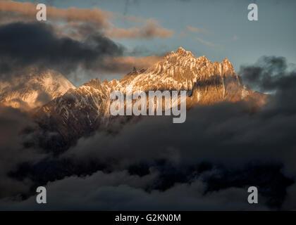 Nepal, Annapurna, Muktinath, Nilgiri Himal - Stock Photo