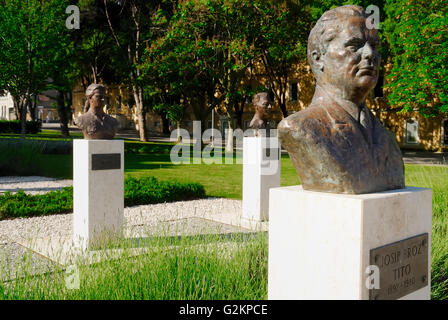 Pula, Istria, Croatia. Tito's Park.  The monument in memory of the fallen fighters of the Yugoslav resistance and - Stock Photo