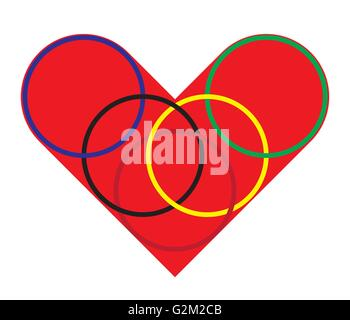 heart and ring - Stock Photo