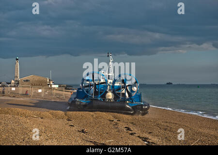Hovercraft, AP1-88 – Island Express owned Hovertravel traveling to Ryde, Isle of Wight, UK - Stock Photo