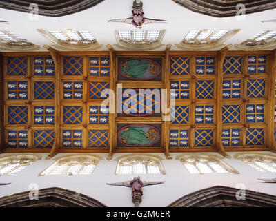 The ceiling of the chapel at Bishop Auckland Palace in Bishop Auckland, Co. Durham, England. - Stock Photo