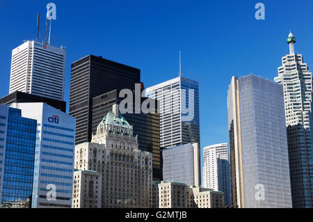 City of Toronto downtown skyline, Toronto, Ontario Province, Canada - Stock Photo