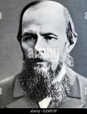 Fyodor Mikhailovich Dostoyevsky (11 November 1821 – 9 February 1881), sometimes transliterated Dostoevsky, was a - Stock Photo