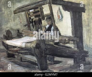Painting by the famous Dutch artist Vincent Van Gogh (30th March 1853 - 29th July 1890), work titled 'Weaver standard - Stock Photo