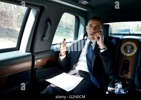 Barack Hussein Obama II (born August 4, 1961); 44th and current President of the United States, - Stock Photo