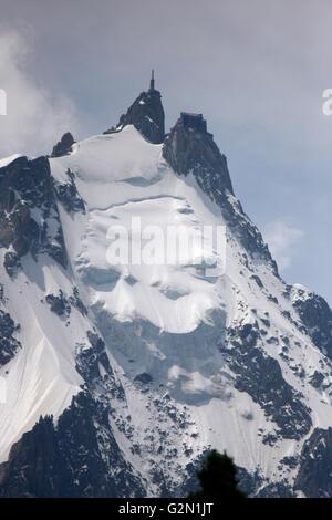 Aiguille du Midi, Mont Blanc, Frankreich. - Stock Photo