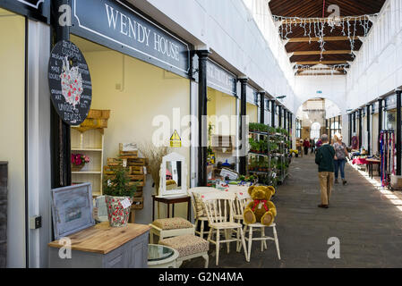 WENDY HOUSE one of several small shops in The Shambles indoor market in Devizes Wiltshire UK - Stock Photo