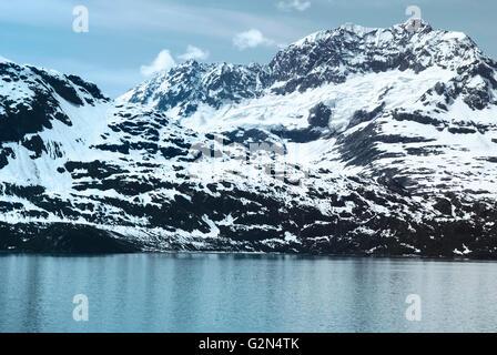 Mountain range in Glacier Bay National Park, Alaska - Stock Photo