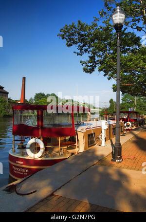 Seneca Falls Canal Park - Stock Photo