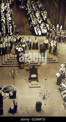 Coronation of King George VI at Westminster Abbey, London, 1937 - Stock Photo