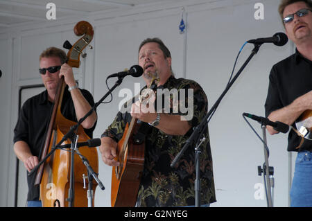 One of the bands Randy Waller and the Country Gentlemen play at the bluegrass festival in Deale, Maryland - Stock Photo