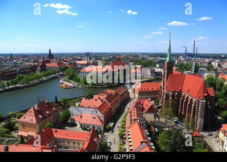 View from St. Johns Cathedral, Wroclaw, Silesia, Poland, Europe - Stock Photo