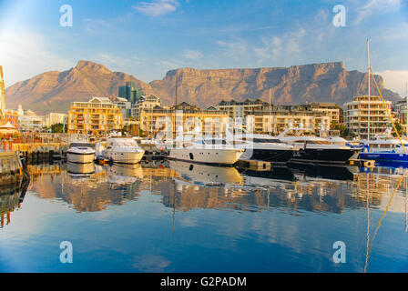 V&A Waterfront in Cape Town with the backdrop of the Table Mountain, South Africa