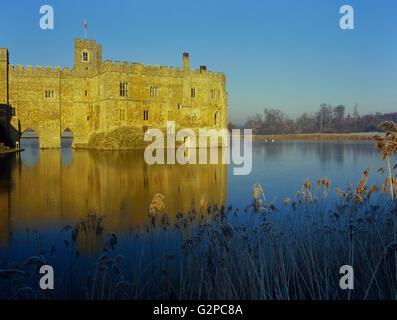 Leeds Castle on a frosty morning. Kent. England. UK. Europe