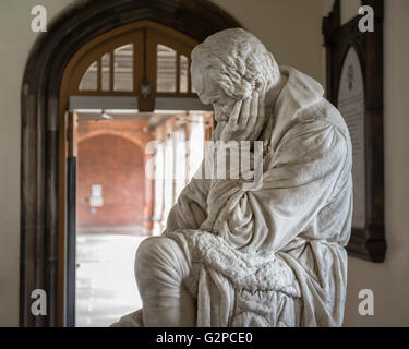 Statue of Galileo in the Entrance Hall of Queens University. Belfast, Northern Ireland, UK. Europe - Stock Photo
