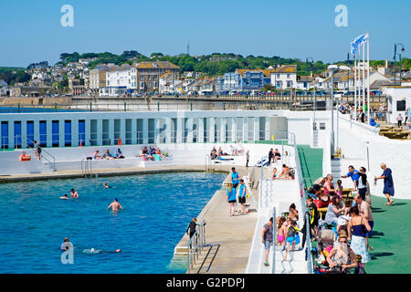 Jubilee Pool Penzance Cornwall Uk An Art Deco Lido To Celebrate Stock Photo Royalty Free