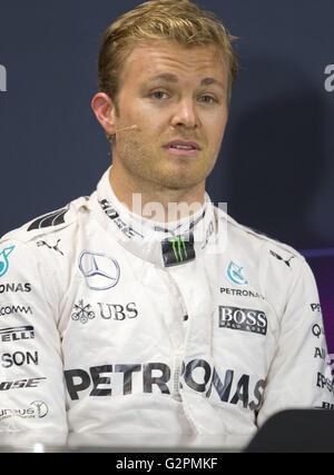 Monaco, Monte Carlo - May 28, 2016: FIA Formula One World Championship, Nico Rosberg, Mercedes AMG Petronas | Verwendung - Stock Photo