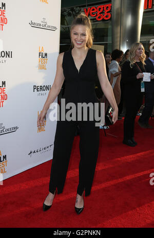 Hollywood, CA, USA. 1st June, 2016. 01 June 2016 - Hollywood, Melissa Benoist. 2016 Los Angeles Film Festival - - Stock Photo