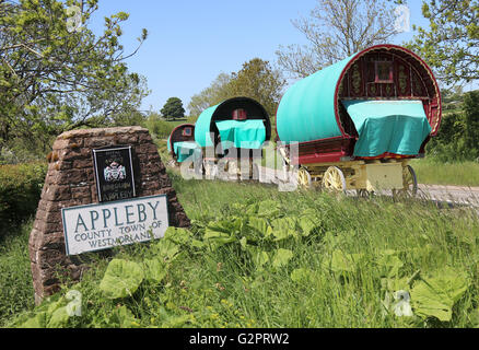 Appleby-in-Westmorland, Cumbria, UK. 02nd June, 2016. Members of the traveler community making there way to Appleby - Stock Photo