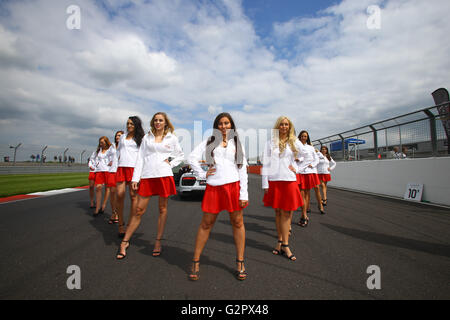 Silverstone Circuit, Northants, UK. 15th May, 2016. Blancpain Endurance motor racing series. GRID GIRLS © Action - Stock Photo