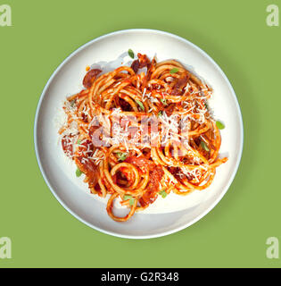 Pasta ready to eat or serve for dinner - Stock Photo