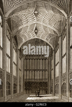 King's College Chapel, King's College, University of Cambridge, England - Stock Photo