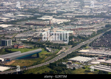 Aerial view of the Trafford Centre, Manchester - Stock Photo