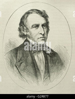 Zachary Taylor (1784-1850). American officer and politician. 12th President of the United States (1849-1850. Portrait. - Stock Photo