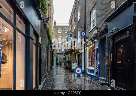 LONDON, UK - AUGUST 24, 2015: View of Carnaby Street. Carnaby Street is a pedestrianised shopping street in Soho - Stock Photo