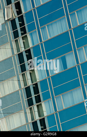 House front, detail, multi-storey building - Stock Photo