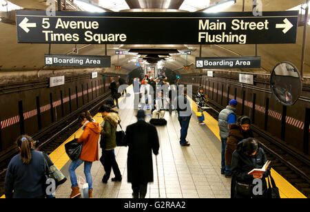 Subway station, Grand Central Terminal, 42nd Street, Manhattan, New York City, New York, United States - Stock Photo