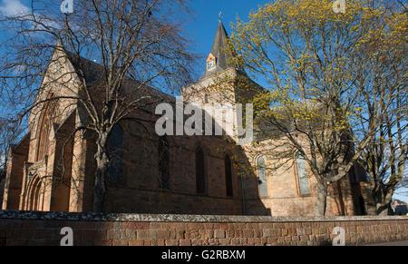 Dornoch Cathedral, Dornoch, Sutherland, Scotland - Stock Photo