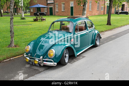 1967 VW Beetle at Bicester Heritage Centre. Oxfordshire, England - Stock Photo
